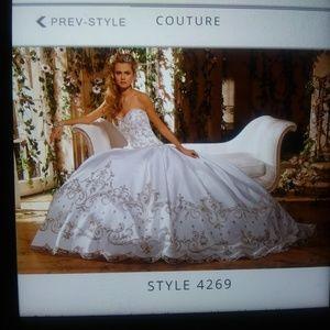 Eve of my lady wedding dress with veil